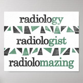Radiology Poster - Funny Grammar Radiologist Art