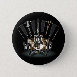 Radios Silent Button! 6 Cm Round Badge