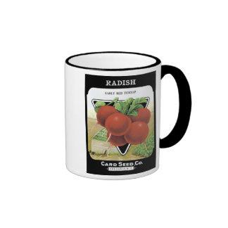 Radish Early Red Turnip Card Seed Co Coffee Mugs
