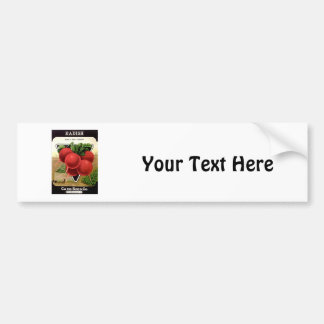 Radish Seeds from Card Seed Co Bumper Sticker