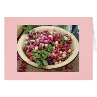 Radishes at the Farmer's Market Note Card
