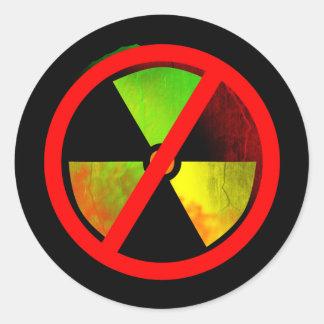 Radoactive Grunge Anti-Nuclear Symbol Sticker