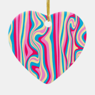 radom painted pattern ceramic heart decoration