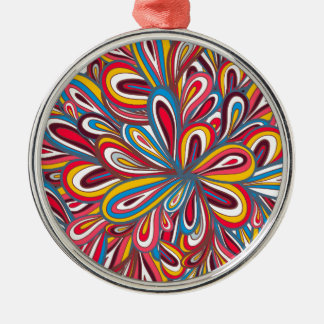 radom painted pattern Silver-Colored round decoration