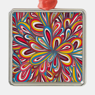 radom painted pattern Silver-Colored square decoration