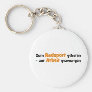 Radsport Basic Round Button Key Ring