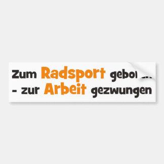 Radsport Bumper Sticker