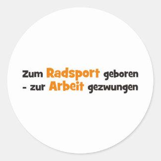 Radsport Round Sticker