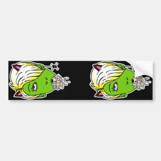 raebies green head bumper sticker