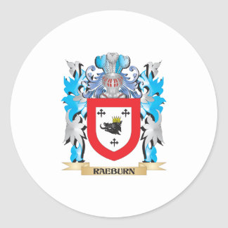 Raeburn Coat of Arms - Family Crest Round Sticker
