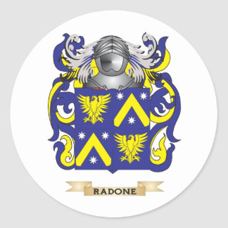 Raeburn Coat of Arms Family Crest Round Stickers