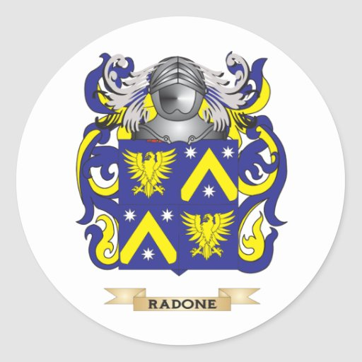Raeburn Coat of Arms (Family Crest) Round Stickers