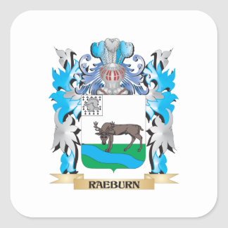 Raeburn Coat of Arms - Family Crest Square Sticker