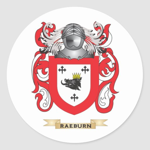 Raeburn Coat of Arms (Family Crest) Stickers