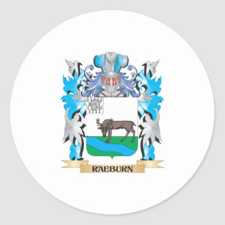 Raeburn Coat of Arms - Family Crest Round Stickers