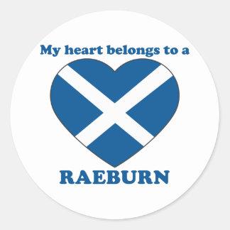 Raeburn Round Sticker