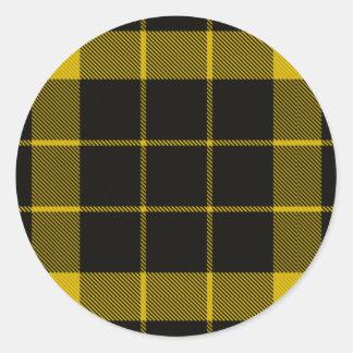 Raeburn Tartan Round Sticker