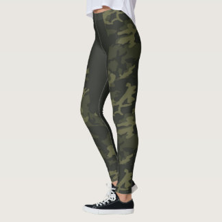 RAENA LONG STRIPE CAMO LEGGINGS