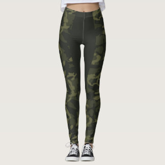 RAENA STRIPE CAMO LEGGINGS