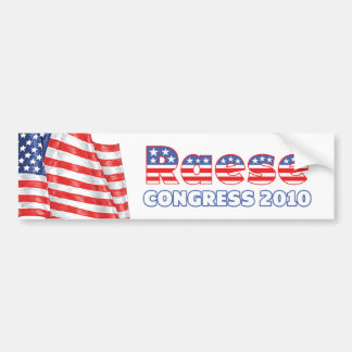 Raese Patriotic American Flag 2010 Elections Bumper Sticker