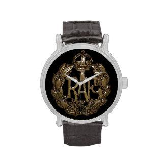 RAF Cap Badge WWII King George Wristwatch