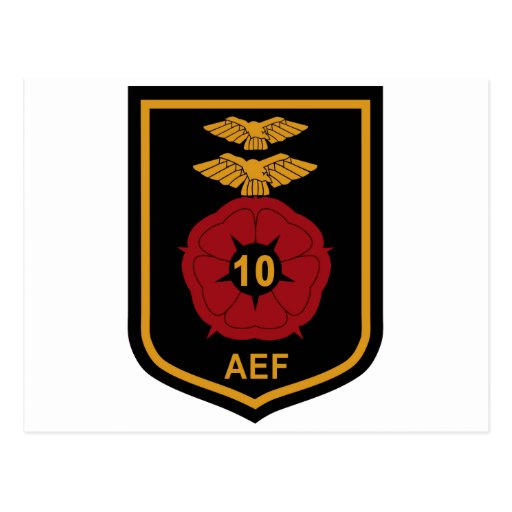 RAF Patch 10 Air Experience Flight AEF Crest Patch Post Cards