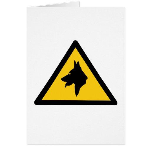 RAF Police Dogs On Patrol (1), Traffic Sign, UK Card