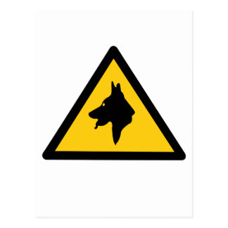 RAF Police Dogs On Patrol (1), Traffic Sign, UK Postcard