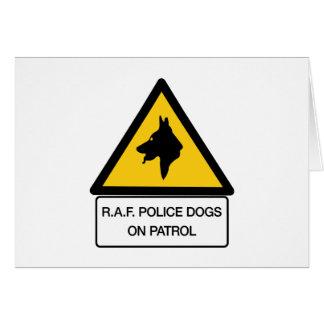 RAF Police Dogs On Patrol (2), Traffic Sign, UK Greeting Card