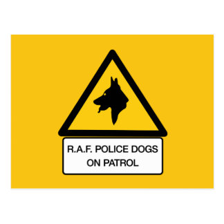 RAF Police Dogs On Patrol (2), Traffic Sign, UK Postcards