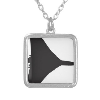 RAF Vulcan Bomber Silver Plated Necklace