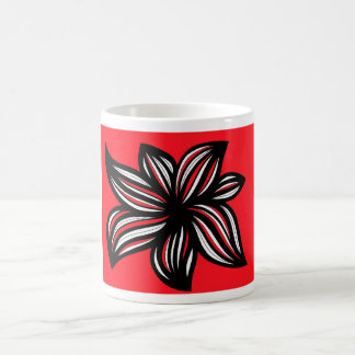 Rafanan Abstract Expression Red White Black Classic White Coffee Mug