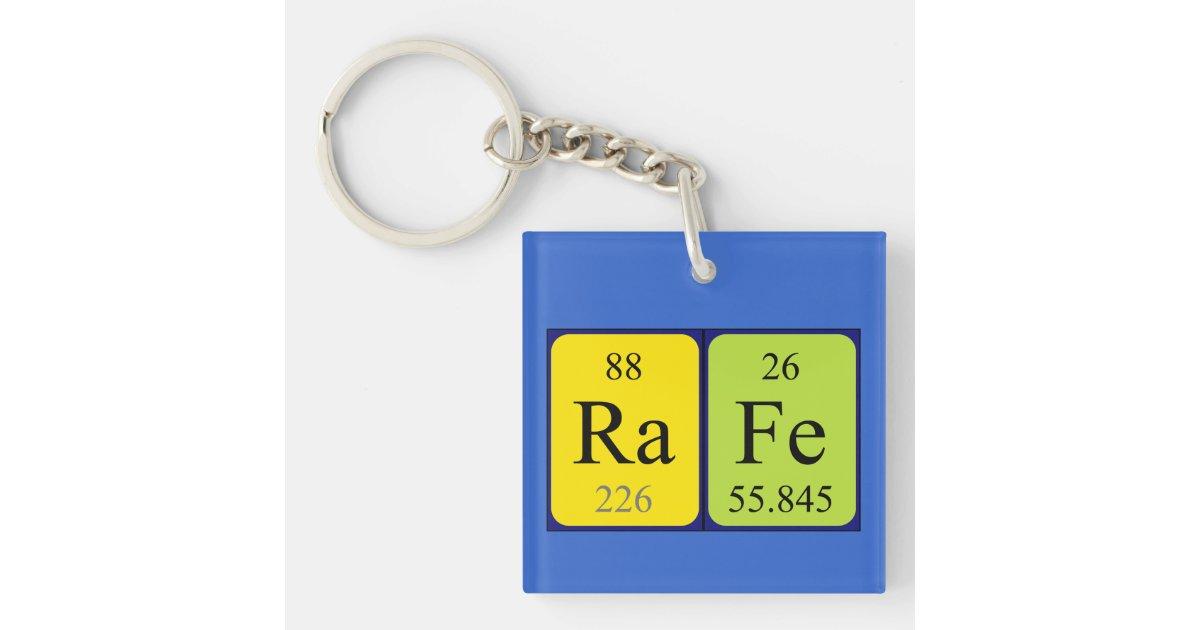 Rafe periodic table name keyring zazzle urtaz Gallery