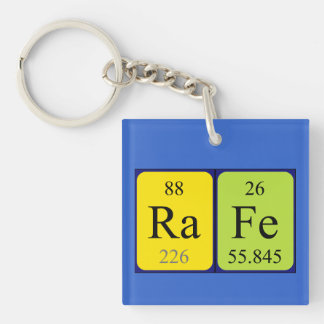 Rafe periodic table name keyring Single-Sided square acrylic key ring