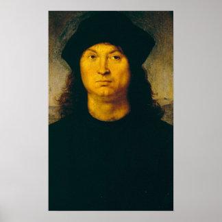 Raffaello Sanzio da Urbino - ritratto di uomo 1 Poster