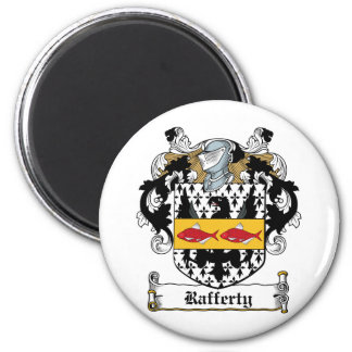 Rafferty Family Crest 6 Cm Round Magnet