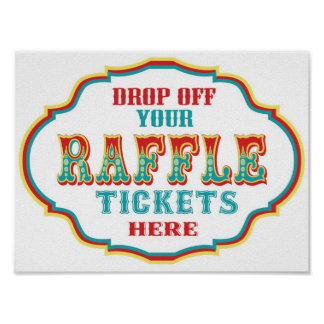 Raffle Ticket Booth Sign Print