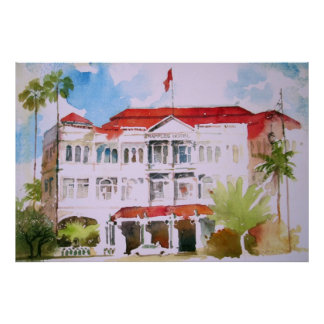 RAFFLES HOTEL BY VIC REYES POSTER