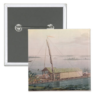 Raft on the Guayaquil River 15 Cm Square Badge