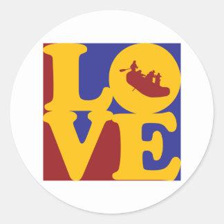 Rafting Love Round Sticker