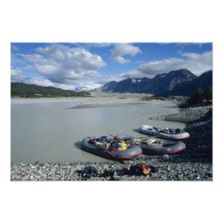 Rafting the Alsek River downstream Photo Art