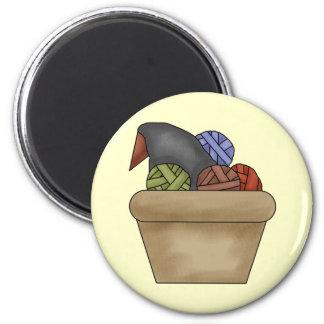 Rag Ball Crow Nest Refrigerator Magnet