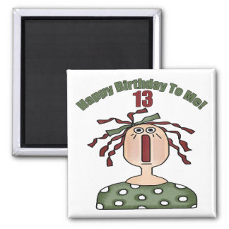 Rag Doll 13th Birthday Gifts Square Magnet