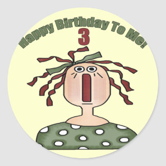 Rag Doll 3rd Birthday Gifts Stickers