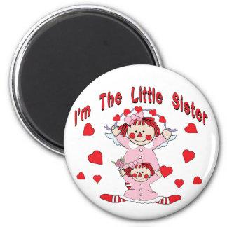 Rag Doll Little Sister 6 Cm Round Magnet