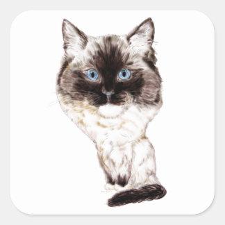 Ragdoll Caricature Sticker
