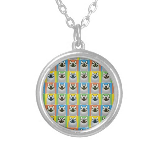 Ragdoll Cartoon Cat Pop-Art (Seal-Point) Personalized Necklace