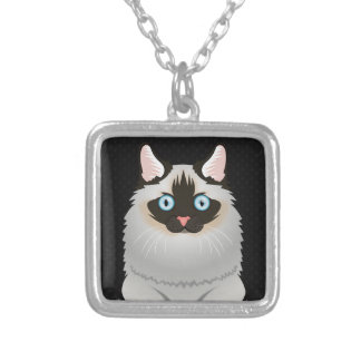 Ragdoll Cat Cartoon Paws Pendant