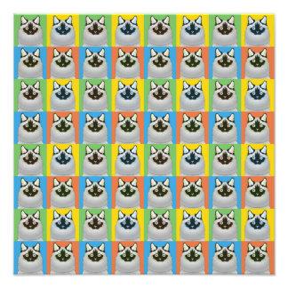 Ragdoll Cat Cartoon Pop-Art (Seal-Point) Art Photo