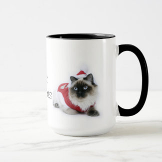Ragdoll cat Christmas mug